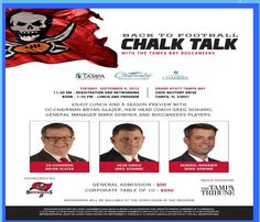 If you're into the #Bucs, you'll want to attend Chalk Talk!