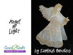 A vintage Aleene's/EcoHeidi reverse collage angel. This is candle cover also makes a cute tree topper. Check out www.cool2craft.com for more Christmas craft ideas! christmas crafts, candl cover, fun forchristma, candles, angel ornaments, angels, craft ideas, light candl, angel craft