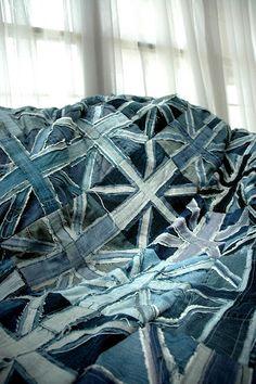 RMK life: Union Jack: Repurposed Denim Quilt