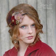 Rustic Chic Boho Headband Fall Headpiece by GreenTrunkDesigns