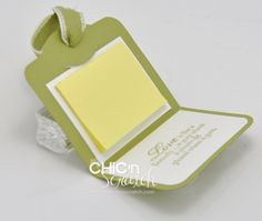 Two tags post it note holder