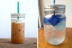 masons, tumblers, canning jars, straw, trim healthy mama drink, iced coffee, mason jars, diy, jar tumbler