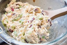 Cranberry Chicken Salad...could be made with left over turkey as well.