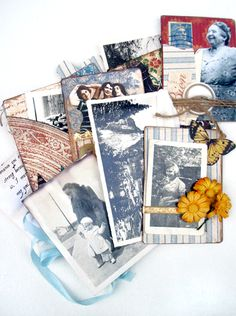 A more detailed view at Nichola's Memory Bundle Book made using French Country! #graphic45