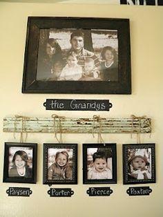 A really fun family portrait display idea!