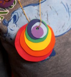 Sort by Size Activity to Make a Rainbow Necklace on hands on : as we grow
