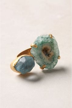 blue stone & gold ring