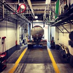 Ben & Jerry's gets its dairy from the St. Albans Cooperative Creamery. It is a collection of about 500 family farms in Vermont who have pledged not to use the synthetic growth hormone rBGH. At the Co-op, the milk is separated into heavy cream and condensed skim milk then shipped by tanker trucks, like this one, to our factory. #benandjerrysfactorytour (Taken with Instagram at Ben & Jerry's)
