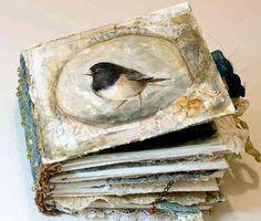 bird, photo books, art journals, mini albums, mixed media, altered books, alter book, book covers, altered art