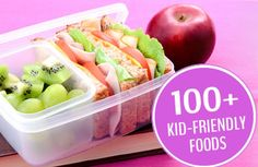 Kid-tested, mom-approved packed lunches and after-school snacks. | via @SparkPeople #kidfriendly #kidfood #healthy #food #lunch #snacks