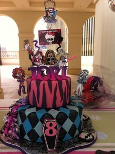 birthday parti, monster high birthday cakes, amber, monsterhigh, bday idea