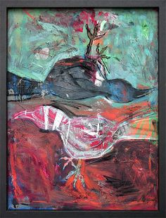 Grackles - oil, charcoal on canvas