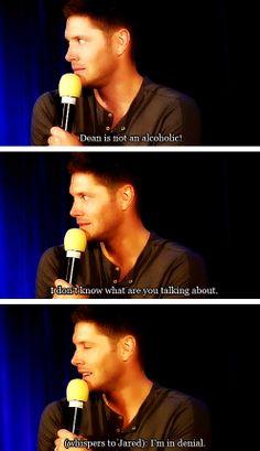 [gifset] Jensen on Dean's alcoholism. #Jensen