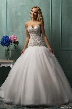 amelia sposa wedding dresses 2014 rafaela strapless sweetheart drop waist ball gown