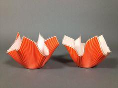 A pair of 1950's handkerchief glass vases, est £40-60