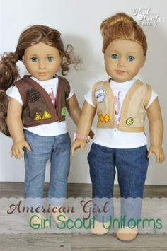 Doll sized girl scout inspired uniform vests from RealCoake.com