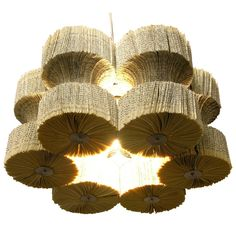 lamps, lights, recycled books, light fixtures, paper, chandeliers, design, dot, old books