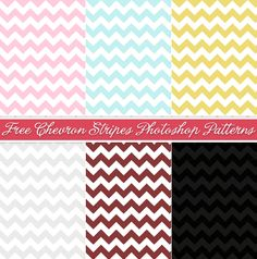 FREE chevron Photoshop Patterns - LOVE the chevron