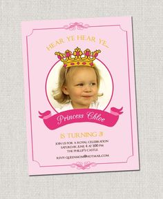 #birthday #party #invitation #princess