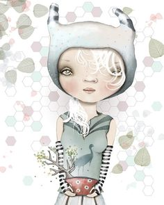 Girl Illustration Art Print