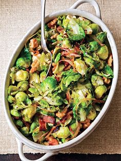 Brussels Sprouts Leaves With Bacon and Walnuts