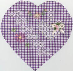 ~ Heart Design on Gingham ~