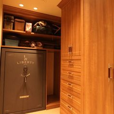 Guns on pinterest glock gun safes and concealed carry for Built in gun safe room