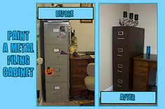 How to paint a metal filing cabinet (not spray paint)