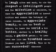 This is life -Emerson