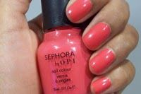 "everyone should invest in coral nail polish! -->""I'm Wired"" Sephora by OPI"