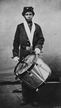 Drummer Boy with the United States Colored Infantry. (Civil War)
