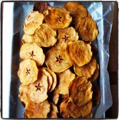 Homemade Apple Chips -   These apple chips are made by simply slicing apples very thinly on a mandoline, dusting with a little brown sugar and cinnamon and baking very slowly in a low oven for two hours, flipped the slices once after an hour.   They end up becoming these nicely dehydrated, crispy sweet apple chips that delicious to eat.  You will love them.