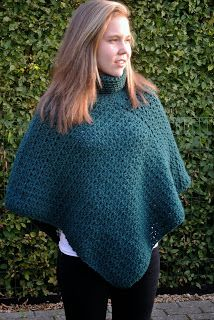 poncho gehaakt/crochet