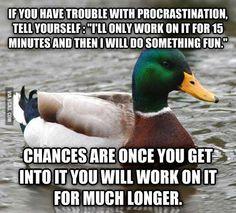 Smart duck.
