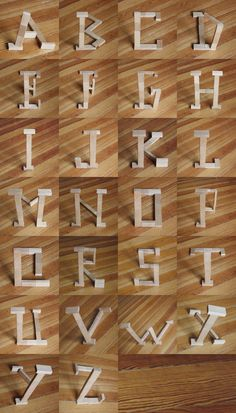 Good to post in the Blocks Center - Alphabet using blocks and perspective.