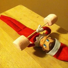 """31 of the best """"elf on the shelf"""" ideas holiday, marshmallow weight, christmas crafts, lift weight, best elf on the shelf ideas, weights, bench press, lift marshmallow, elves"""