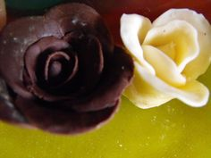 Modeling Chocolate Roses.