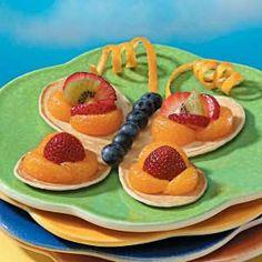 Food art - butterfly pancakes