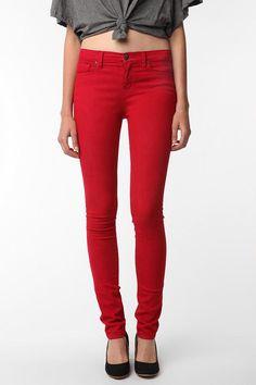 Red skinnies!