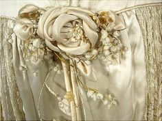 c. 1920's Panier Dress, detail...lovely inspiration for perfecting your fabric flower technique.