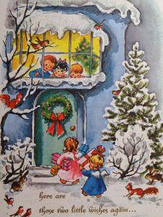 angel, christma card, christmas cards, vintage christmas, christma vintag, christma decor, christma scene, christma craft, christmas scenes