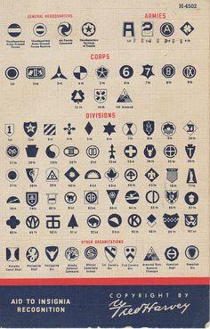 WWII US Army insignia ~