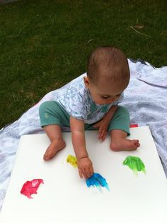 Edible finger paint recipe from Laughing Kids Learn