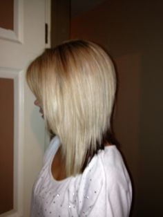 Inverted long bob- got it done at work! In love :)