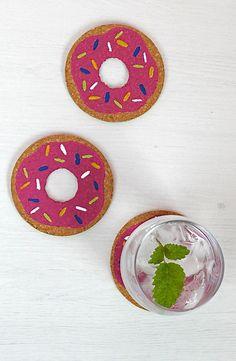 DIY: donut coasters