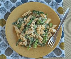 Living the Loca Vida Vegan: Creamy Pasta with Almond Feta and Broccoli Rabe