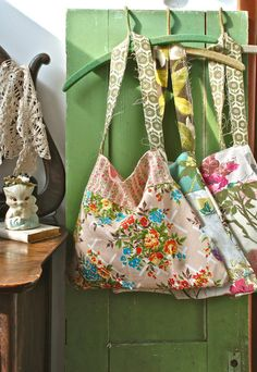 merry market tote no. 1 by BlondieBlu on Etsy
