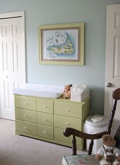 Nursery paint color: Sherwin Williams Rain Washed