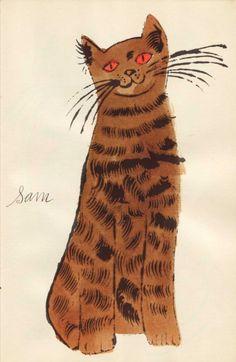 Brown sam with orange eyes, 1954 • andy warhol