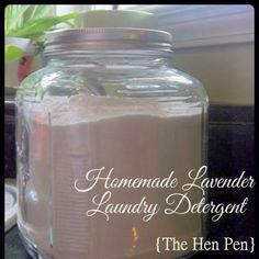 Homemade Lavender Laundry Detergent Recipe